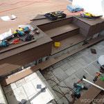 WPC Treppe Rohzuschnitt