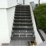 WPC Treppe Aluminium Unterkonstruktion oben