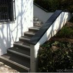WPC Treppe Granit