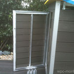 WPC Pool-Technik Einhausung Alu Tür versperrbar