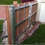 WPC Sichtschutz Bangkirai Aluminium UK