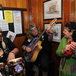 Ah the Hippies singing up a storm in a pub somewhere