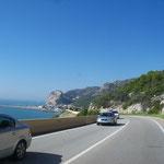 Küstenstraße auf der Steilküste