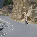 En route pour les deux derniers kilomètres de l'Izoard.