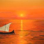Im Jahr 2100 gibt es keine Retter mehr deshalb ist die Arche leer. In 2100 there are no rescuers, so the ark is empty.
