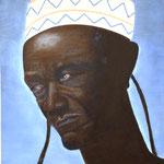 Afrikaner, Öl auf Holz 35,5x48cm, 2008.