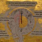 Szenario 2; Blattgold, Tusche und Pastell auf Papier, 48x38cm inkl. Rahmen. Gold leaf, ink and pastel on paper incl. frame. 2019
