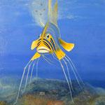 Das Fisch, Öl auf Leinwand, 80x115 cm.