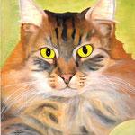 Kitty, Öl auf Holz 46x38cm,.