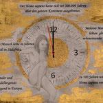 Szenario 1; Blattgold, Tusche und Pastell auf Papier, 48x38cm inkl. Rahmen. Gold leaf, ink and pastel on paper incl. frame. 2018