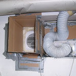 Den Abluft Lüfter mit Schlauch ist nur in Geschlossen Räumen zu verwenden!