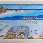 """Moemoea - 80 x 55 - 4ème prix au concours du Art4Méridien en catégorie """"arts imaginaires"""" - À VENDRE"""