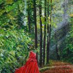En rouge et vert - Il était une fois - 40 x 29 - À VENDRE