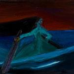 ボートに乗った女の子_2011_91x117cm 油彩 キャンバス 個人蔵