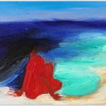 「海」 2011年 油彩 キャンバス  97x130.5cm 撮影:木奥恵三