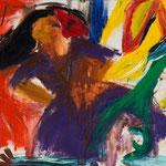 グルーシェンカとスフィンクスとユニコーン_2012_65.5×91cm_油彩_キャンバス