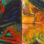 「エルドラード」2012年 油彩 キャンバス 22.8x16cm(二枚組) 個人蔵