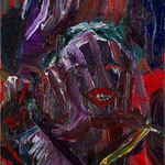 「バース近在の女房(カンタベリー物語から)」2013年 油彩 キャンバス 23×16cm