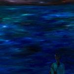 海(カバンを持つ人のいる)_2014_130x162cm_油彩_キャンバス