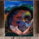 パンジー(荒野)2018年 27x22cm 油彩 キャンバス