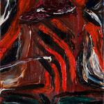 「かぶき者」2013年 油彩 キャンバス 18×14cm