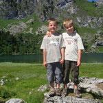 Nick und Fabio am Seebergsee Sommer 2008