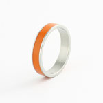 orange, bague orange, bague laquée orange, bague couleur orange, bague Ly