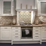 Add a pattern to the kitchen backsplash for a striking design.