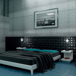 A tile headboard is a fashionable and durable statement piece.