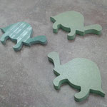 A customer ordered these playful green turtles for her children's bathroom.