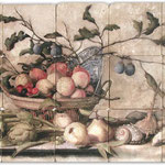 A beautiful fruit still life mural for your kitchen backsplash