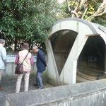 ①新しい発見 赤羽台第3号古墳石室前