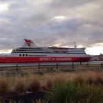 Spirit of Tasmania; unsere Fähre zurück nach Melbourne