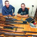 Waffensammlung auf der Farm