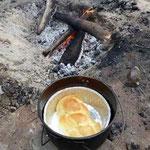 Im Campoven gebackener Zopf
