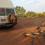 Gemütliches Outback-Nachtlager