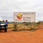 Great Central Road - Grenze zu Northern Territory