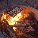 Fisch auf Feuer