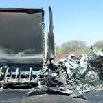 Abgebrannter Lastwagen