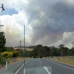 Buschfeuer naehe Adelaide