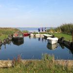 Malerischer Fischereihafen in Grüssow