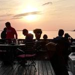 Traumhafte Kulisse im Café Knatter Ückeritz