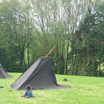Im Prinzip steht das Zelt ja