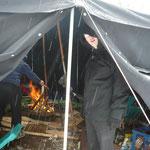 Im Zelt war es warm...