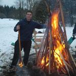 Angemessen großes Feuer