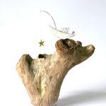 """Skulptur """"Sternenfischer"""""""