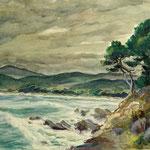 """P15 """"paysage maritime St Tropez"""""""