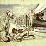"""P11 """"jeunes gens sur la plage"""""""