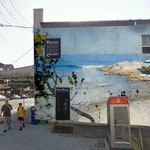 2014 event - concept for transposing early Clovelly images onto blank Clovelly Road building facades