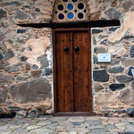 Doorway at Agios Asinou church in the Troodos